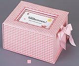 Baby-Schatzkästchen 'Willkommen!' (rosa)