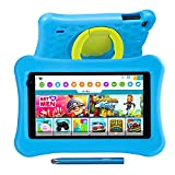 "AWOW 7""Kinder Tablet,2GB RAM 32GB ROM, Funtab 701 Tablet Kinder Kindersicher KIDOZ APP& Google Play Vorinstalliert, WiFi&Blutooth,Android 10 Tablet für Kinder mit Touchstift, kindgerechter Hülle Blau"