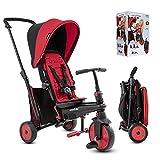 Smartric STR3 Mehrstufige 6-in-1 Dreirad, faltbar, für Kinder, mit Zertifikat, für 1,2,3 Jahre, 5021533, Rot