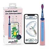 Playbrush Smart Sonic, smarte elektrische Schallzahnbürste für Kinder mit interaktiver Spiele-App (Pink)