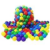 Kiddy-Fux 200 Stück Bälle für Bällebad Ø5,5cm Bälle für Kinder Bällebäder Babybälle Plastikbälle Ballpool Bällepool Spielbälle Kinderbällebad 5,5cm Durchmesser 200er Pack