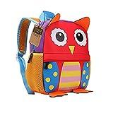 TEAMEN® Kinderrucksack Animal Schule Tasche Rucksack for Kinder Baby Jungen Mädchen Kleinkind 2-6 Alter (Eule)