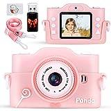 PRYMAX Kinderkamera, Digitalkamera Kinder Fotoapparat, Stoßfeste 2 Zoll IPS-Bildschirm 1080P HD Videorecorder 32 GB Karte Kinder Digitalkamera, Geschenke Spielzeug für 3-10 Jahre Jungen Mädchen