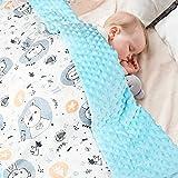 Babydecke 100% Bio Baumwolle, Kinder Kuscheldecke Polar Fleece Baby Komfort Decke 70x105cm,Rosa Sommer Doppelseitige Blanket für Mädchen und Junge