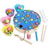 Montessori Holzspielzeug für Kinder, Angel-Clip mit Perlen, Puzzle-Board, Hände, Gehirn, Training, Essstäbchen, Clip, Angeln, Schachspiel, Kinder, frühes Lernspielzeug