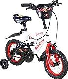 Actionbikes Kinderfahrrad Dagoberto - 12 Zoll - V-Break Bremse vorne - Stützräder - Luftbereifung - Ab 2-5 Jahren - Jungen & Mädchen - Kinder Fahrrad - Laufrad - BMX - Kinderrad (12`Zoll)