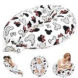 Stillkissen Schwangerschaftskissen zum Schlafen Seitenschläferkissen - Lagerungskissen für Baby XXL Pregnancy Pillow Maus in Rot