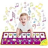 WEARXI Baby Spielzeug ab 1 Jahr Geschenke für Mädchen Junge, Mitgebsel Kindergeburtstag Kinderspielzeug Kleinkind Spielzeug, Tanzmatte, Klaviermatte, Musikmatte, Keyboard Kinder Mädchen Geschenke