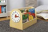 Tidy Books ® Tragbares Bücherregal Kinder, Bücherkiste Kinder, Kinderregal Natur, Montessori Material, Box Kinderzimmer, 34 x 54 x 28 cm, Handgefertigt, Nachhaltig, Das Original seit 2004