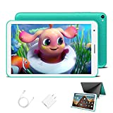 Kinder Tablet 8 Zoll mit WiFi 3GB + 32GB/128 Erweiterbar Android 10.0 Pie Zertifiziert von Google GMS 1,6Ghz Kids Tablet Quad Core 5000mAh Dual Kamera Tablet PC Netflix Lernspiele(Grün)
