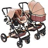 Kinderwagen Florida, 3 in 1 Kombikinderwagen Megaset 8 teilig inkl. Babyschale, Babywanne, Sportwagen und Zubehör, zertifiziert nach der Sicherheitsnorm EN1888, Beige