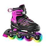 Hiboy verstellbare Inline-Skates mit Allen beleuchteten Rädern, beleuchteten Outdoor- und Indoor-Rollschuhen für Jungen, Mädchen, Anfänger