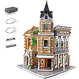 KEAYO Bausteine Haus, Mould King 16026, 3039 Teile Groß Modular Teehaus Modellbausatz mit Beleuchtung, Klemmbausteine Gebäude Modell Kompatibel mit Lego Haus
