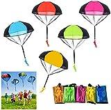 SUPRBIRD 10 Stück Fallschirm Spielzeug Kinder, Fallschirm Kinder Fallschirmspringer Spielzeug, Outdoor Flugspielzeug für Kinder
