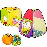 tectake pop Up Kinderspielzelt   Spielhaus mit Bällebad   inkl. 200 Bälle + Tasche   -diverse Modelle- (Typ 1   Nr. 401028)