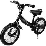 Deuba Laufrad Kinderlaufrad 10 -12 Zoll Sattel Lenker höhenverstellbar mit Bremse Lauflernrad Laufrad 2-5 Jahre Kinder Fahrrad