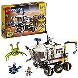 LEGO 31107 Creator 3in1 Planeten Erkundungs-Rover, Raumschiff mit Roboter, Astronauten und Alien Figur, Weltraum-Spielzeug