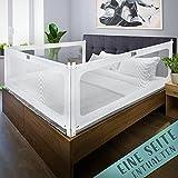 Kids Supply Bettgitter [150x80 cm]- Sicheres & höhenverstellbares Bettschutzgitter [70-90 cm]- Rausfallschutz Bett für Kinder Bett & Elternbett [eine Seite]