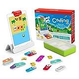 Osmo Coding Starter Kit für iPad –3 haptische Lernspiele - für Kinder von 5 -10+ Jahren – Kinder lernen das Programmieren, Grundlagen des Codings & Coding-Rätsel– Osmo-Basis für iPad inbegriffen
