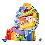 YGJT Motorikspielzeug ab 3 Jahr Holzspielzeug Riesenrad, Kinder Kugelbahn Montessori Spielzeug, BPA-Frei Blei-Frei Lernspielzeug, Jungen und Mädchen (Riesenrad)