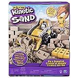 Kinetic Sand Baustellen Spielset mit 454 g Kinetic Sand für kreatives Sandspiel im Kinderzimmer