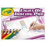 CRAYOLA 04-0908 Light-up Tracing Pad Leuchtendes Zeichenblock – Pink, Malbrett für Kinder, Geschenk, Spielzeug für Mädchen, Alter 6, 7, 8, 9, 10, Rose, 1 Pack