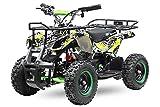 Eco Graffiti Mini Quad 1000W 48V 6 Zoll Kinderquad ATV Kinderfahrzeug (Grafity Grün)