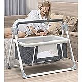 TXTC Infant Cosleeping Neugeborenes Beistellbett, Multifunktionales Elektrisches Babybett, Bettschwelle Für Baby, Aluminiumlegierungshalterung, Bequemer Bettumfang (Color : Grey, Size : Standard)