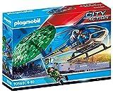 PLAYMOBIL City Action 70569 Polizei-Hubschrauber: Fallschirm-Verfolgung, Für Kinder von 4 - 10 Jahre