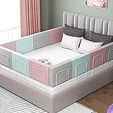 Rausfallschutz Bett Schutz vor Stürzen Bett absturzsicherung Absturzsicherung Bed Guard Rail Kostenlose Kombination Rausfallschutz für Baby & Kinder