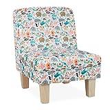 Relaxdays Kindersessel mit Tieren, Buchstaben, für Jungen & Mädchen, Kinderzimmer, Kleiner Sessel HBT: 60x45x52cm, bunt