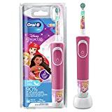 Oral-B Kids Princess Elektrische Zahnbürste/Electric Toothbrush für Kinder ab 3 Jahren, 2 Putzmodi für Zahnpflege, extra weiche Borsten, 4 Sticker, rosa (Design kann variieren)