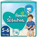 Pampers Baby Windeln Größe 5-6, Splashers, 10 Stück, Einweg-Schwimmwindeln, Für Sicheren Schutz Im Wasser