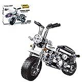 XIAN Motorrad 558 Klemmbausteine Technik Racing Motorrad Modell, Bausteine Kit Kompatibel mit Lego Technic (Silber)
