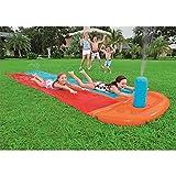 DAGUAI Slider Wasserrutsche, doppelt 5,5 m Rutsch- und Gleitwasserrutsche große Wasserrutsche für den Garten Sommerrutsche für Kinder im Freien