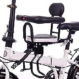 FCS Garden Fahrradsitz Kinder Vorne - Sicherheits Kindersitz Vordersitz mit Pedal und Zaun - Abnehmbarer Kindersitz Fahrrad, Baby Fahrrad Sitz für Damen u Herrenfahrrad (bis 60kg)