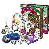 Pummel & Friends - Adventskalender für Kinder, mit Beauty-überraschungen, Haar-Accessoires und Zubehör, Deko-Box zum Aufstellen, besondere Geschenk-Idee für Mädchen und Einhorn-Fans