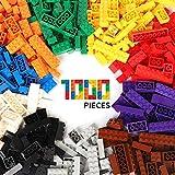 WYSWYG 1.5Kg Bausteine 1000 Teile Blöcke Building Bricks Block für 6 Jahren Herauf Kinder kompatibel mit All Major Brands 10 Classis Color Farben, 14 Bulk Shapes