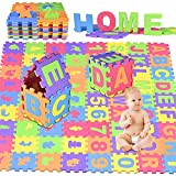 Puzzlematte Baby,GOLDGE 72PCS Puzzlematte Spielmatte Eva Schadstofffrei Wasserdicht Schaumstoffmatte Kinderspielteppich Spielteppich für Baby Kinder Puzzlematte