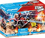 PLAYMOBIL Stuntshow 70554 Feuerwehrkart, Für Kinder von 4 - 10 Jahren