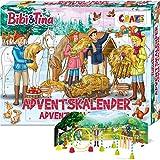 CRAZE Adventskalender BIBI & TINA Pferde Spielfiguren Set Pferdefiguren Spielset für Mädchen und Jungen 24676