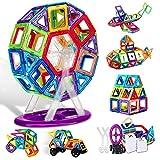 ATCRINICT 106pcs Castle Magnetblöcke - Lernen & Entwicklung Magnetfliesen Bausteine Kinderspielzeug für 3 4 5 6 7 Jahre alte Jungen Mädchen Geschenke