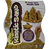 Spin Master 6026411 - Kinetic Sand, Metals 'n Minerals Sand, silver/gold (farblich sortiert)