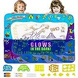 Wasser Doodle Zeichenblock Matte Wasser Magie Zeichenblock Set für Kinder & Kleinkinder - Malen Färben Schreiben Kit - pädagogische Tablet-Spielzeug für Jungen & Mädchen im Alter von 3-12 Jahren